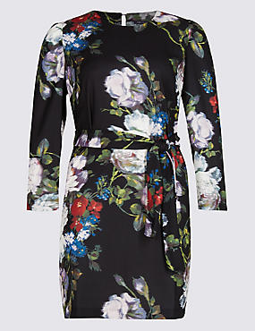 PLUS Smudge Floral Print Tunic Dress