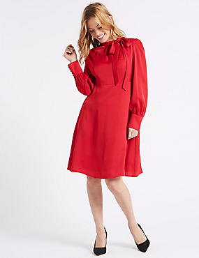 PETITE Long Sleeve Midi Dress