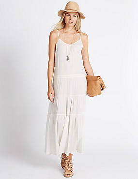 Pure Cotton Tier Maxi Dress
