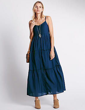 Tiered Loose Fit Maxi Dress