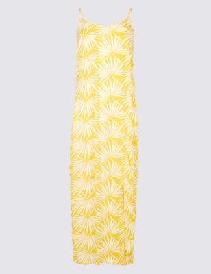 Palm Print Slip Midi Dress by Marks & Spencer