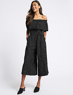 Printed Half Sleeve Jumpsuit