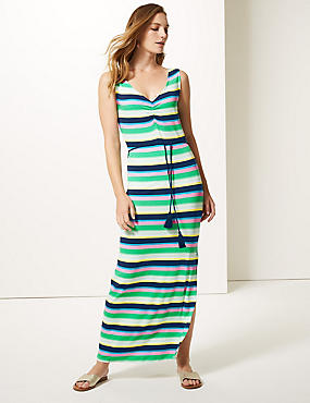 Striped Slip Maxi Dress , MULTI, catlanding