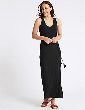 Jersey Maxi Dress , BLACK, catlanding
