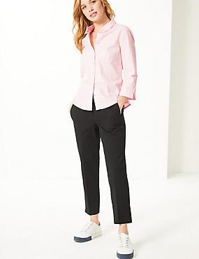 PETITE Cotton Rich 3/4 Sleeve Shirt, PINK, catlanding