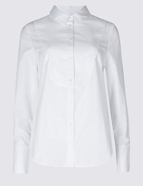 PETITE Pure Cotton Long Sleeve Shirt