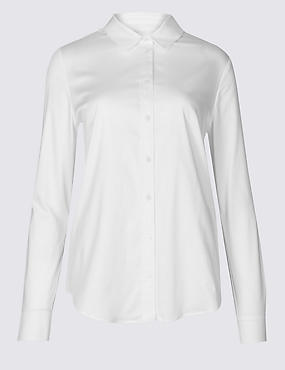 Cotton Rich Stretch Perfect Shirt