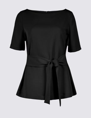 Round Neck Half Sleeve Blouse by Marks & Spencer