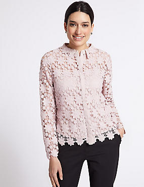 Daisy Lace Long Sleeve Blouse