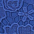 Lace Round Neck ¾ Sleeve Blouse, ROYAL BLUE, swatch