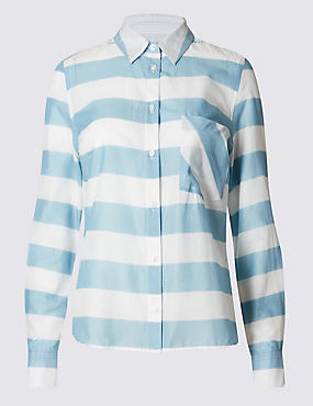 Tailored Fit Pure Cotton Striped Shirt