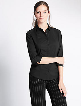 Cotton Rich Fuller Bust 3/4 Sleeve Shirt