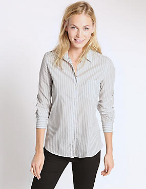 Pure Cotton Collared Neck Shirt
