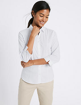 Cotton Rich 3/4 Sleeve Shirt