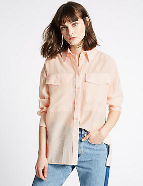 Long Sleeve Shirt , PEACH, catlanding
