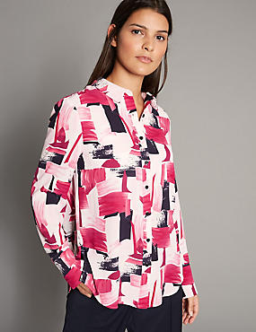 Geometric Print Long Sleeve Shirt
