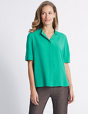 Round Neck Half Sleeve Blouse