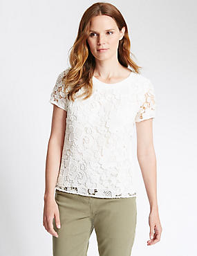 Loose Fit Lace Blouse