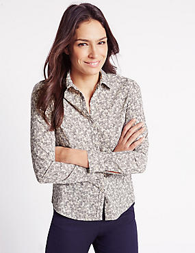 Ditsy Floral Print Long Sleeve Shirt