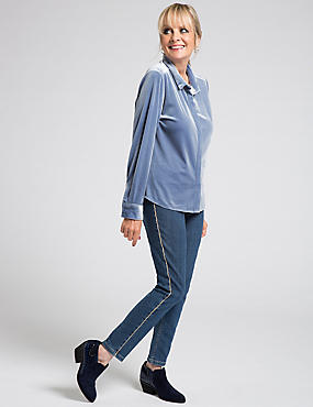Velvet Long Sleeve Shirt