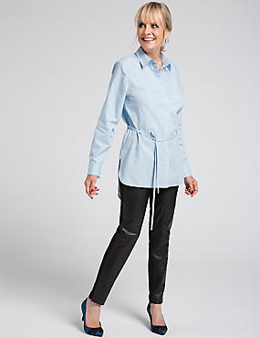 Pure Cotton Long Sleeve Longline Shirt