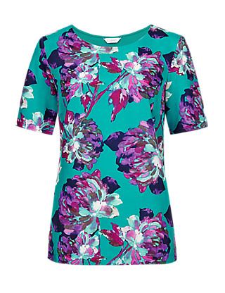 Bold Floral Top Clothing