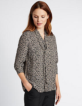 Tailored Fit Collared Neck Blouse