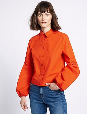 Pure Cotton Poplin Shacket Shirt