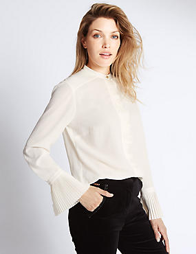 Long Sleeve Frill Cuff Blouse