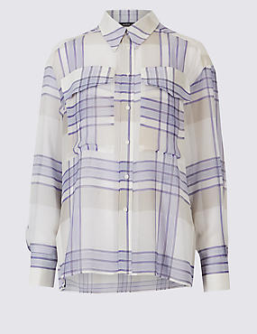 Checked Dual Cap Pocket Long Sleeve Shirt