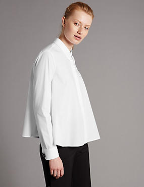 Pure Cotton Trapeze Shirt
