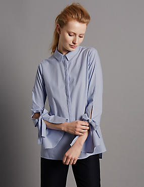 Pure Cotton Striped Poplin Shirt