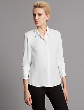 Tailored Fit Long Sleeve Blouses