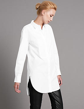 Supima® Cotton Blend White Shirt