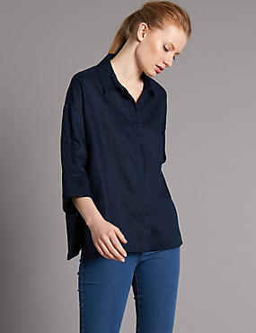 Pure Linen 3/4 Sleeve Shirt