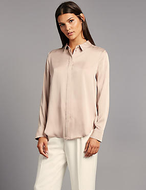 Side Split Long Sleeve Shirt