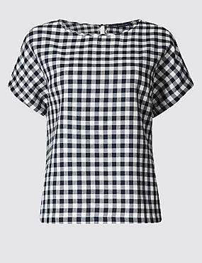 PLUS Modal Blend Checked Shell Top