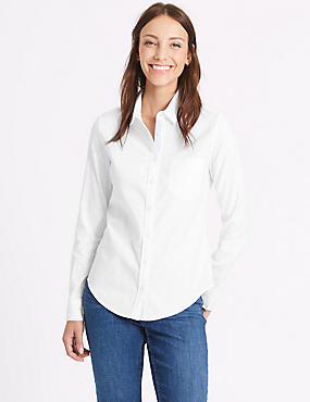 Pure Cotton Oxford Long Sleeve Shirt