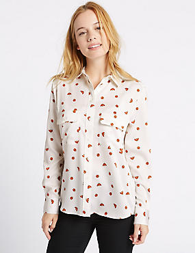 PETITE Ladybird Print Long Sleeve Shirt