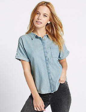 PETITE Pure Cotton Short Sleeve Shirt