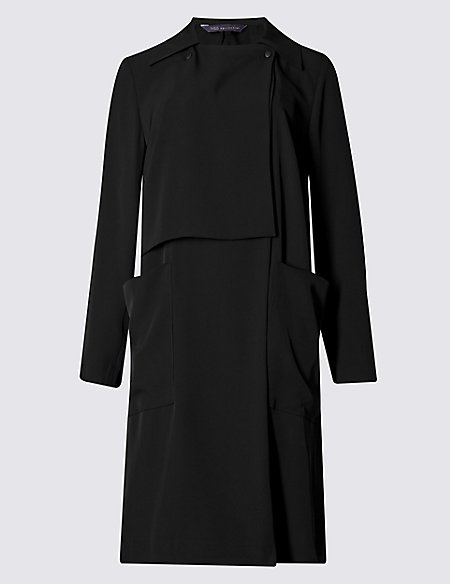 Double Breasted Drape Coat