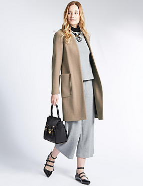 Open Front Loose Fit Overcoat