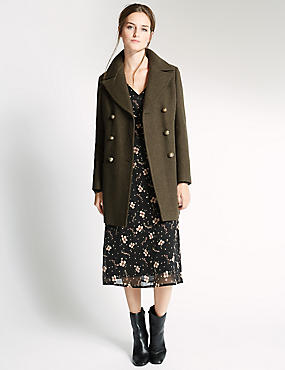 Wool Blend Smart Peacoat