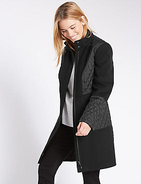 PETITE Long Sleeve Padded Coat