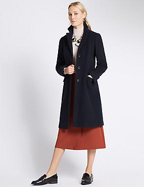 Tailored Fit Double Breasted Coat