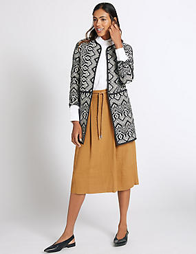 Cotton Rich Edge To Edge Coat