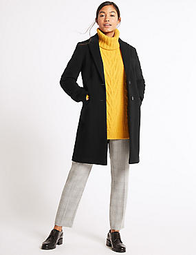 2 Pocket Wool Rich Coat