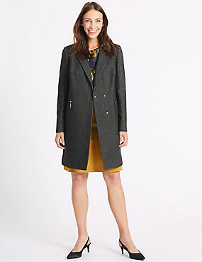 2 Pocket Textured Coat