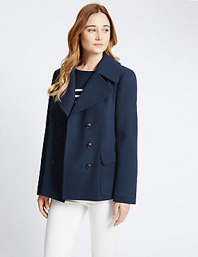 Tailored Fit Peacoat Jacket