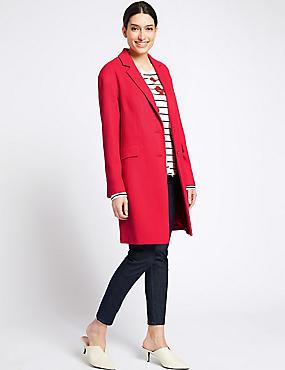Textured Coat, CHERRY RED, catlanding